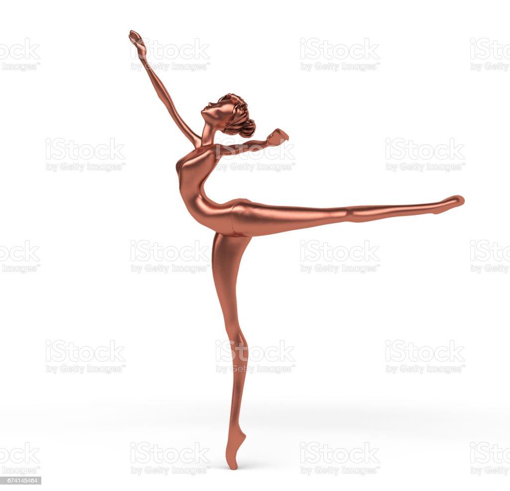 3d Stylized Ballerina stock photo