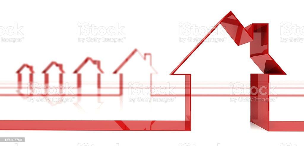 3d symbol house shape royalty-free stock photo