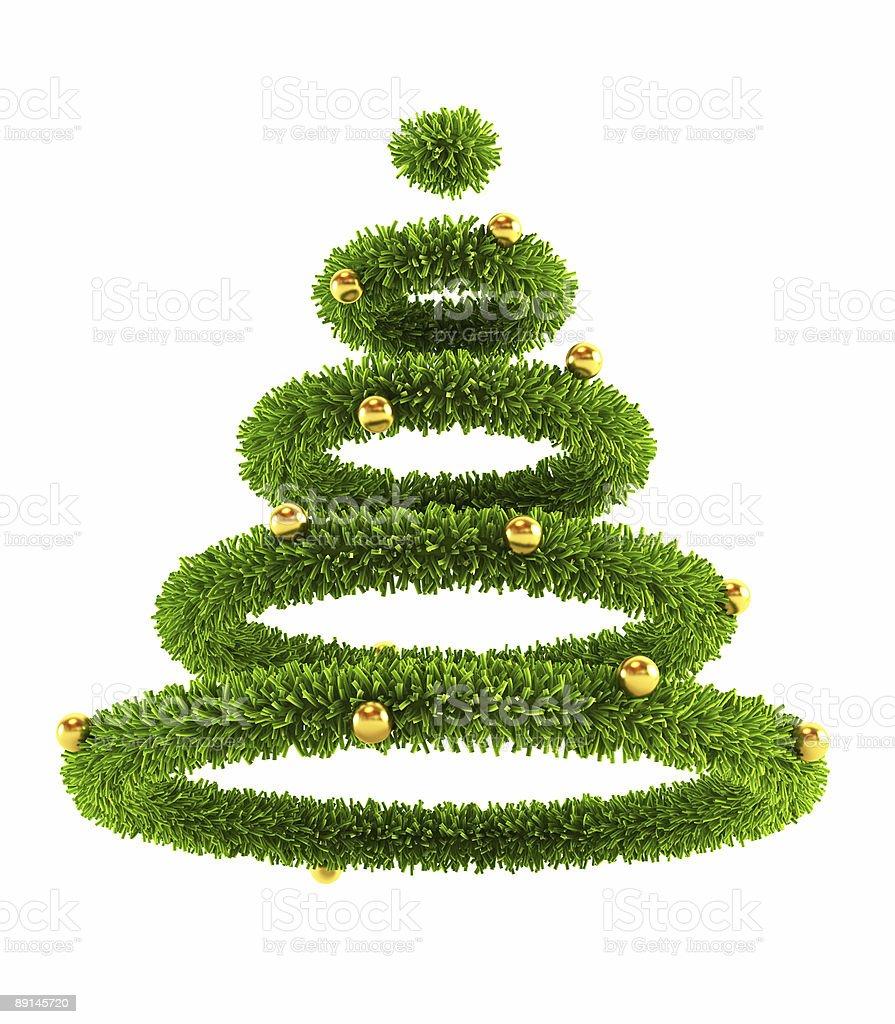 3d symbolic New Year's tree royalty-free stock photo
