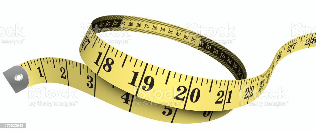 3d tape measure royalty-free stock photo