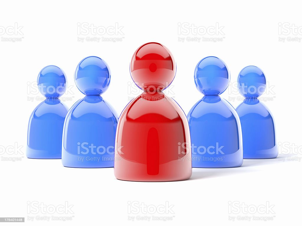 3d Team People icon royalty-free stock photo