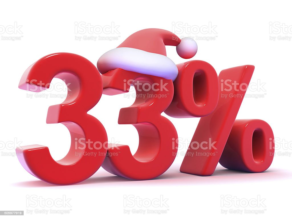 Number 33 free picture of the number thirty three -  Number 33 3d Thirty Three Percent Symbol Wearing Santa Claus Hat Royalty Free Stock Photo