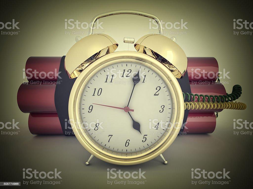 3d time bomb stock photo