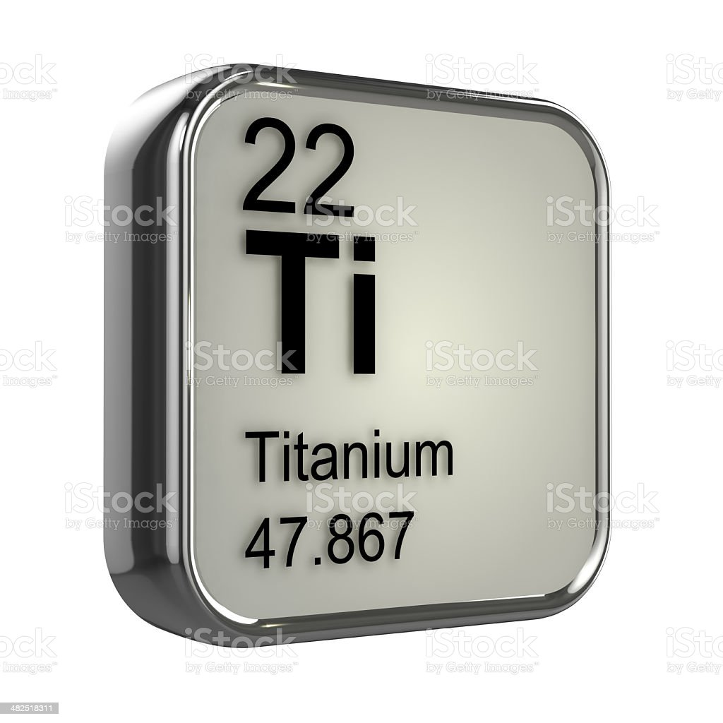 3d Titanium element stock photo