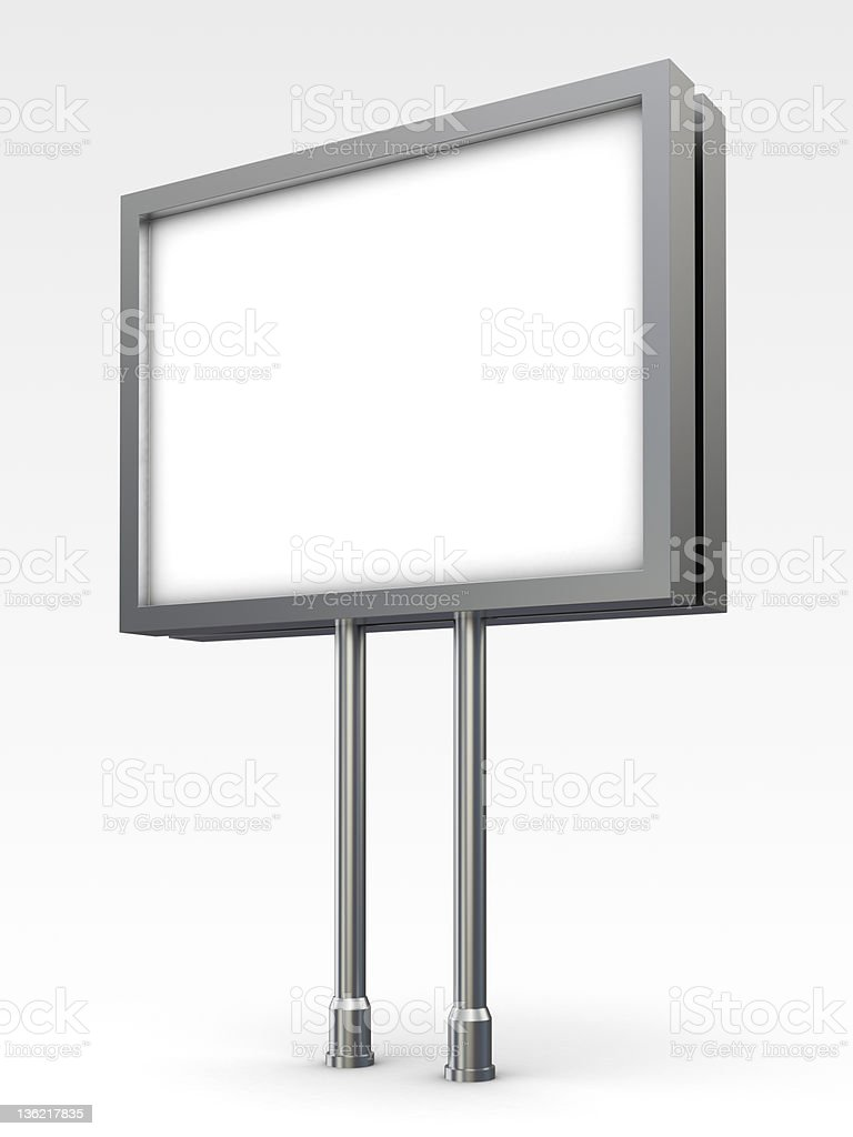 3d Trade Advertising Billboard perspective view royalty-free stock photo