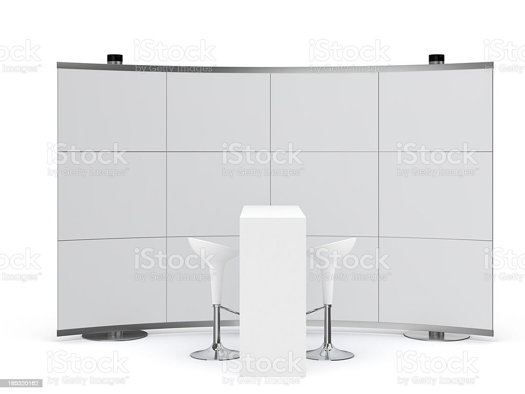 3d Trade Advertising Stand stock photo