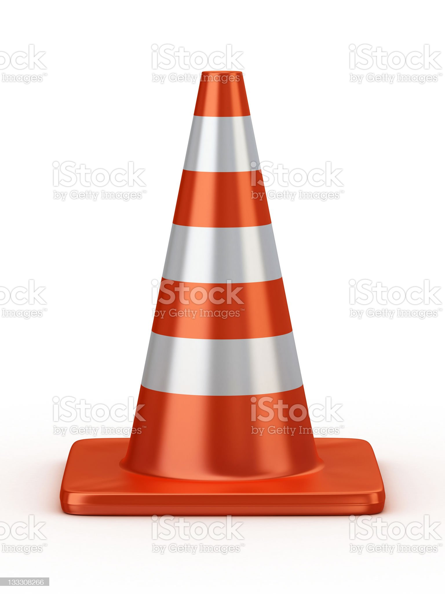 3d traffic cone royalty-free stock photo