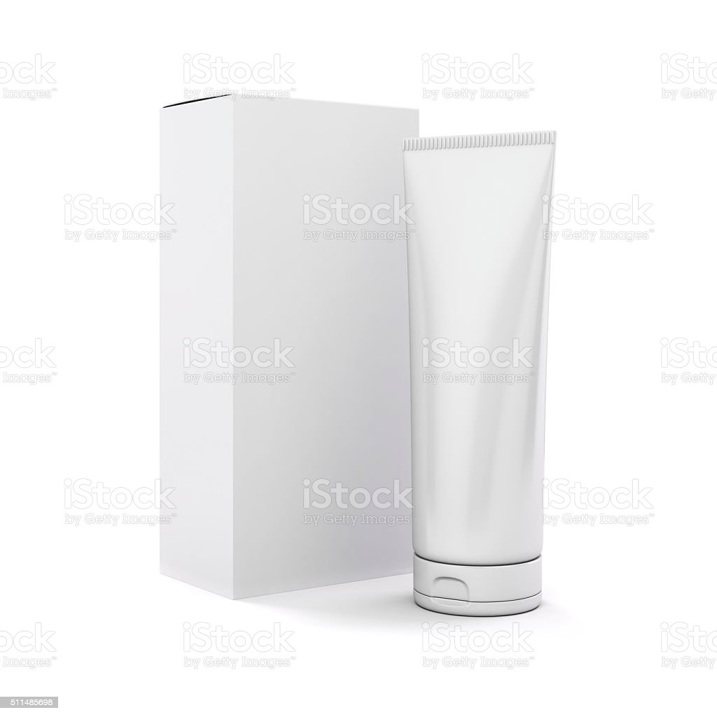 3d tube for cosmetics on white background stock photo