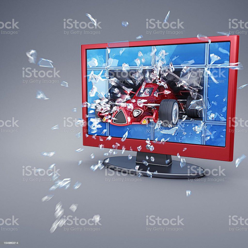 3d tv royalty-free stock photo