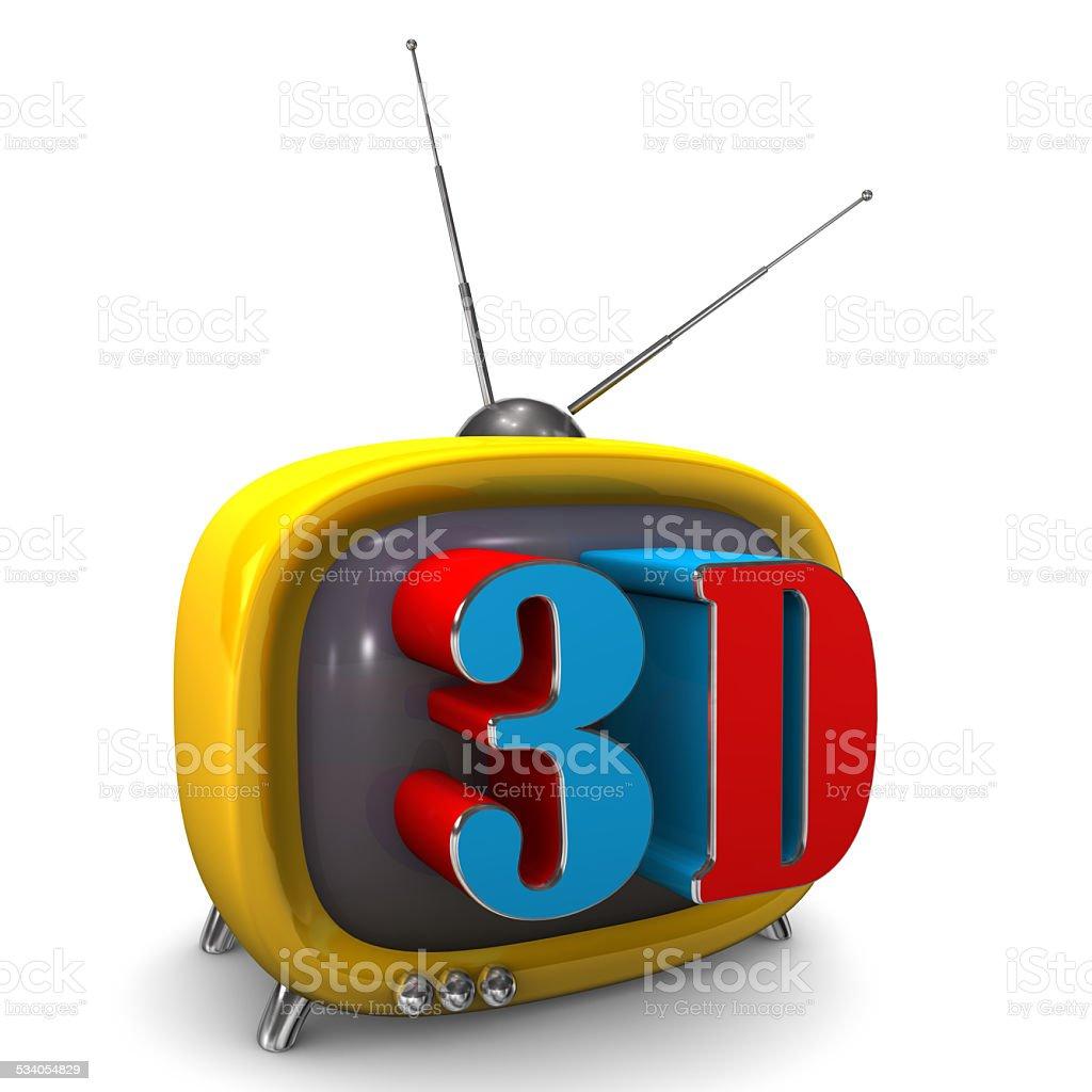3d TV stock photo
