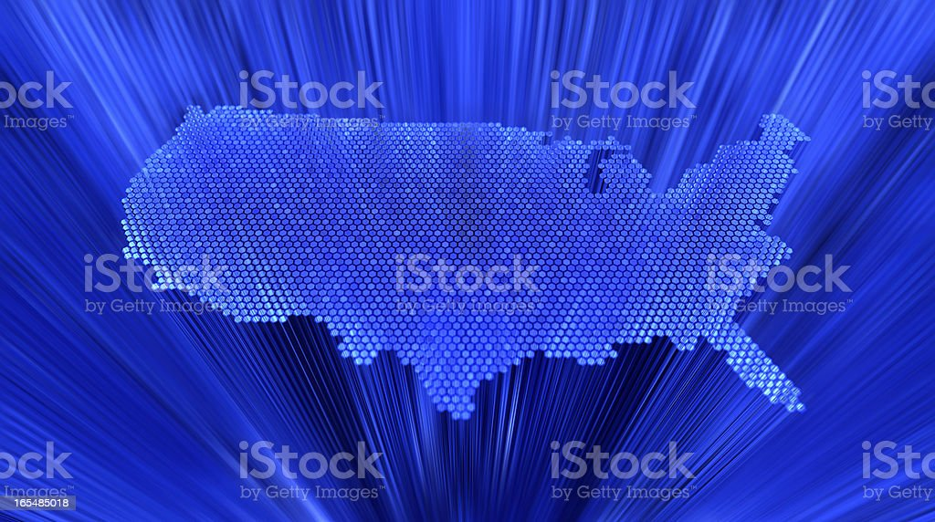 3d USA map royalty-free stock photo