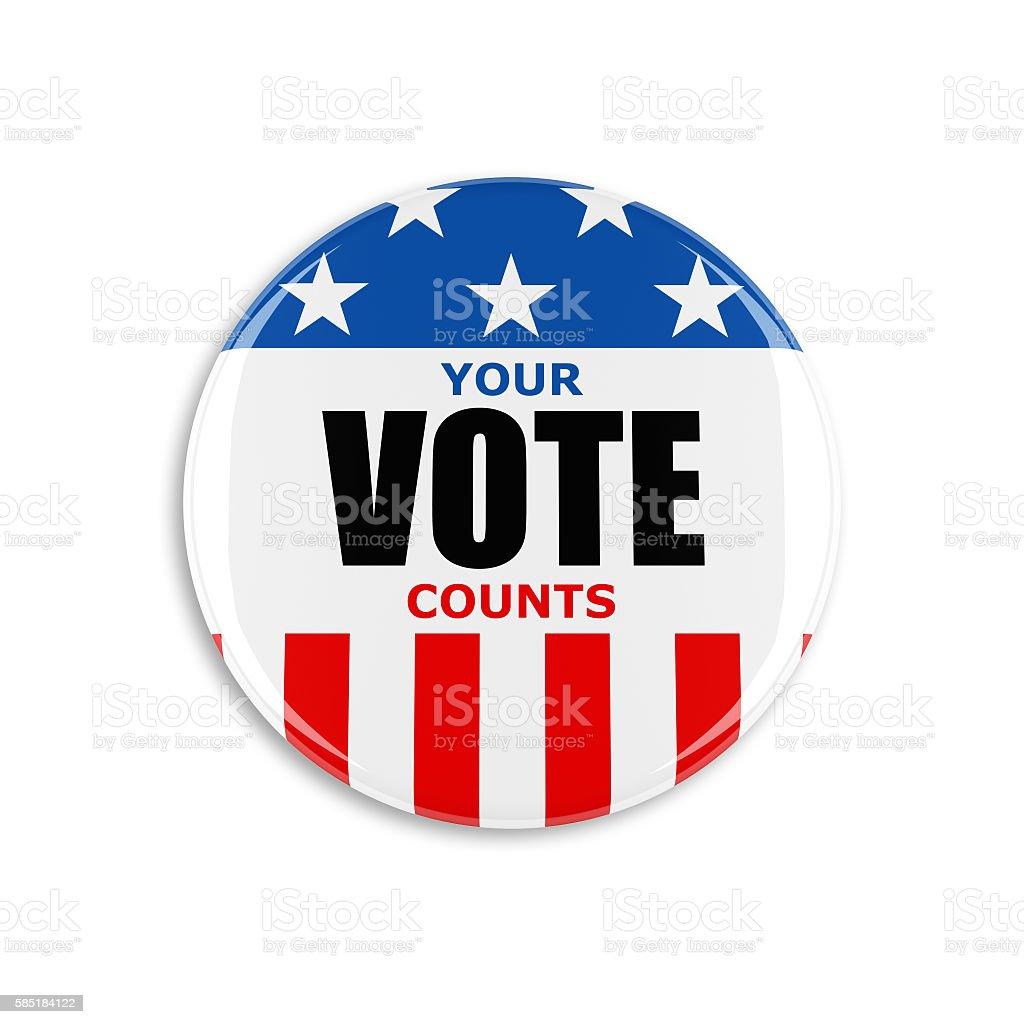 3d usa vote button stock photo