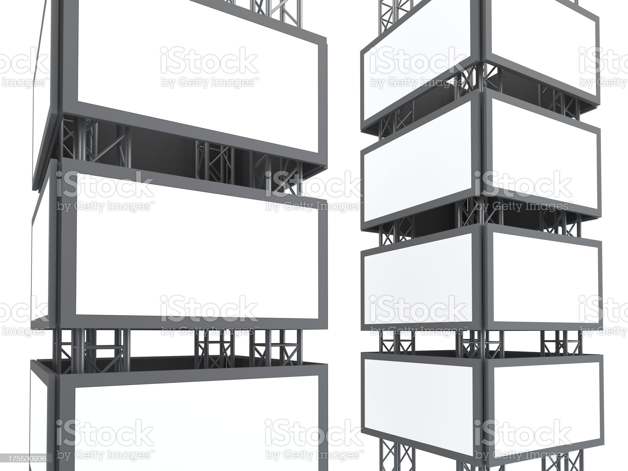 3d video walls royalty-free stock photo