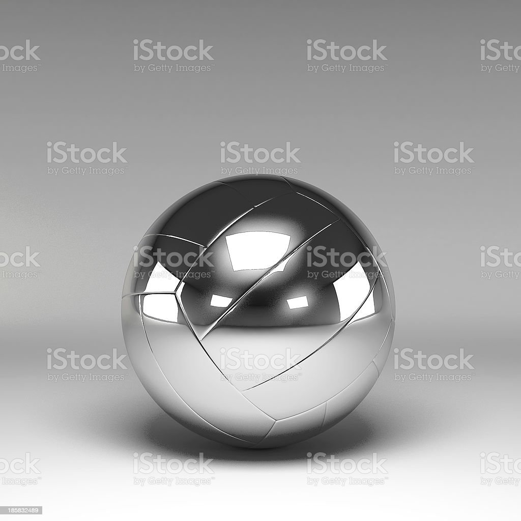 3d volleyball isolated royalty-free stock photo