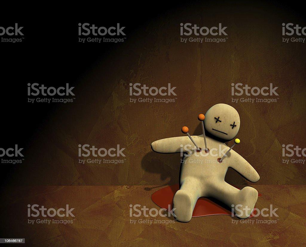 3d voodoo doll stock photo