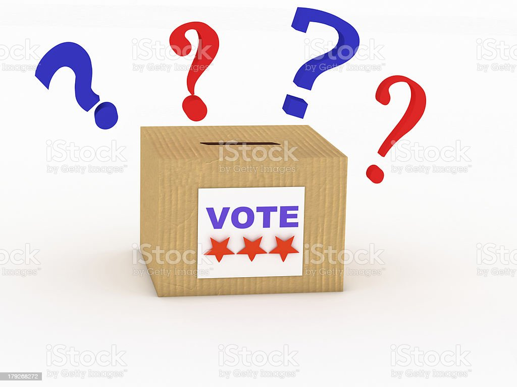 3d voter in the voting booth royalty-free stock photo