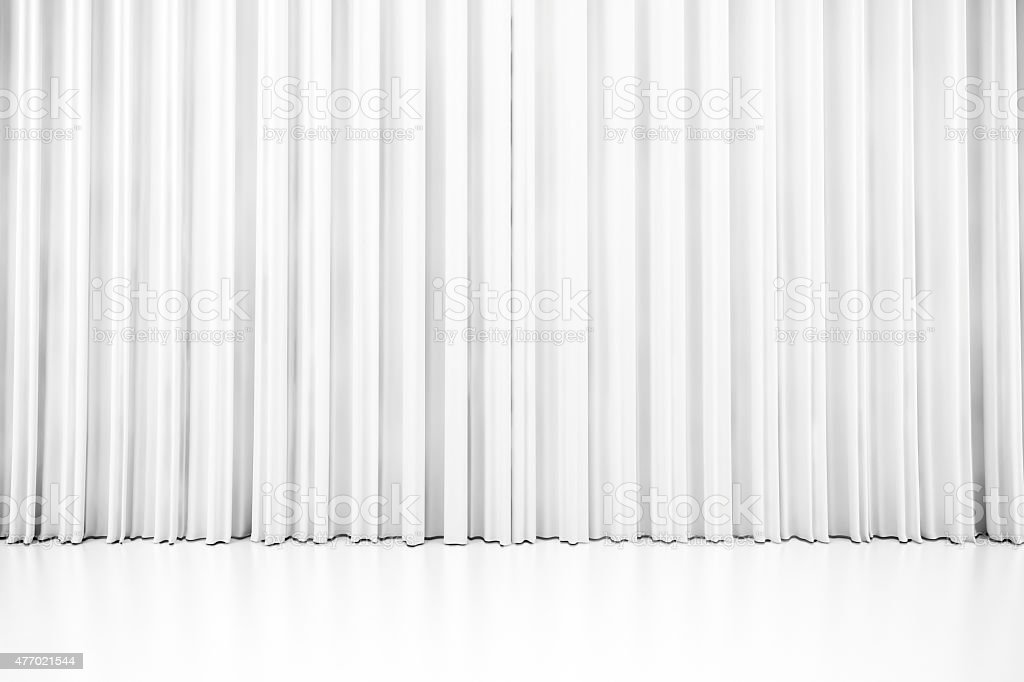 3d white clean curtain stock photo