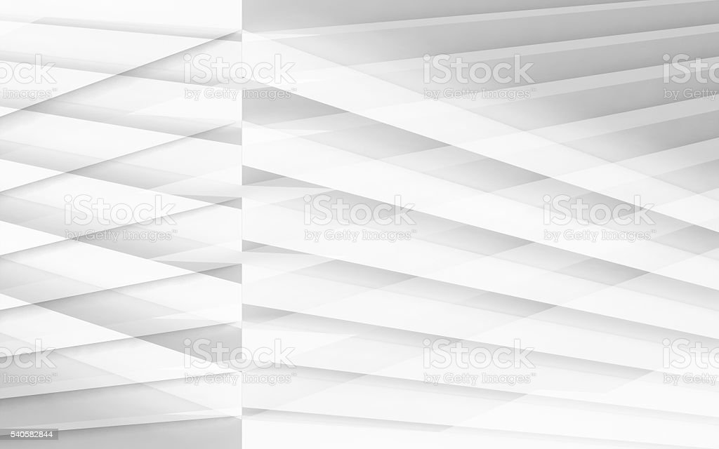 3d white geometric background with stripes stock photo