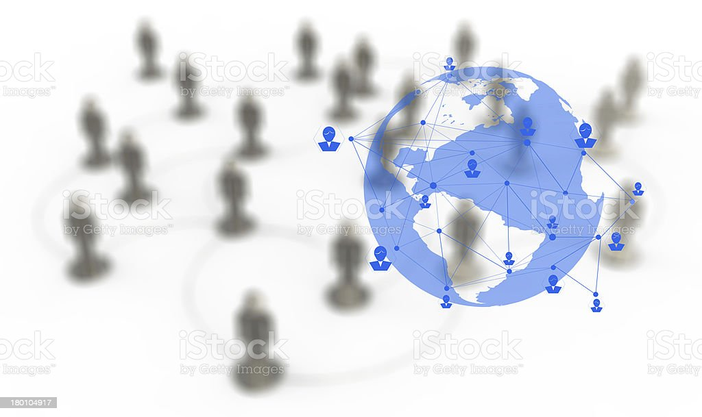3d white human social network graphics royalty-free stock photo