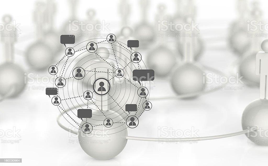 3d white human social network royalty-free stock photo