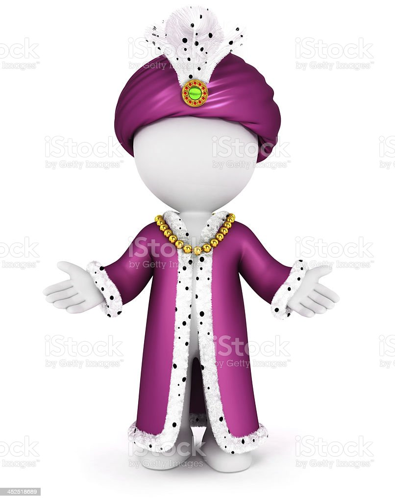 3d white people caliph stock photo