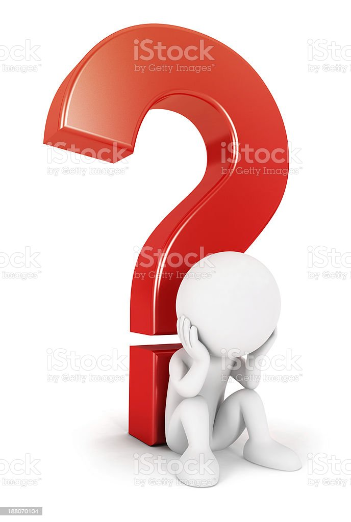 3d white people complicated question stock photo