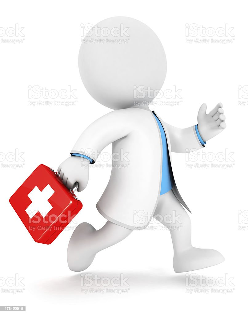 3d white people first aid royalty-free stock photo