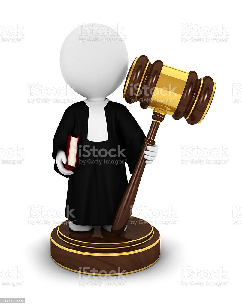3d white people judge royalty-free stock photo