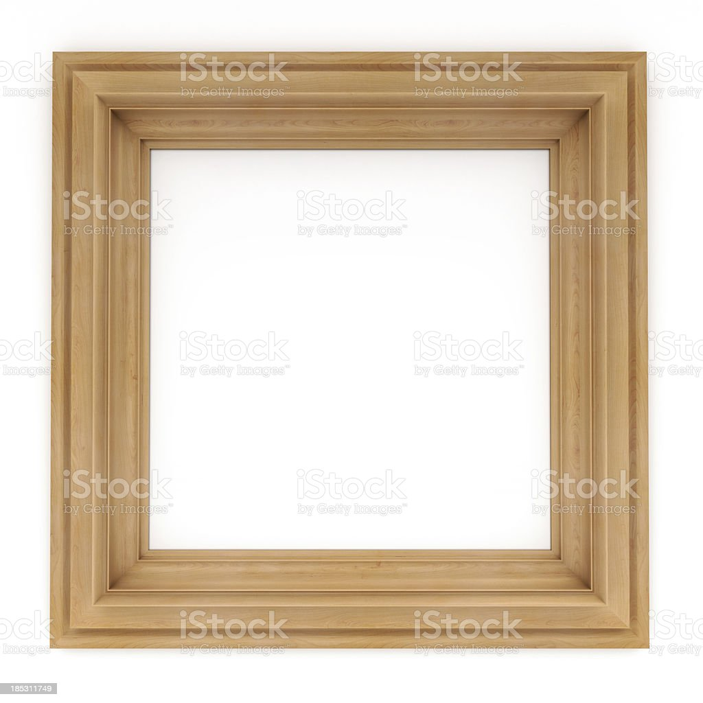 3d wooden  classical frame stock photo