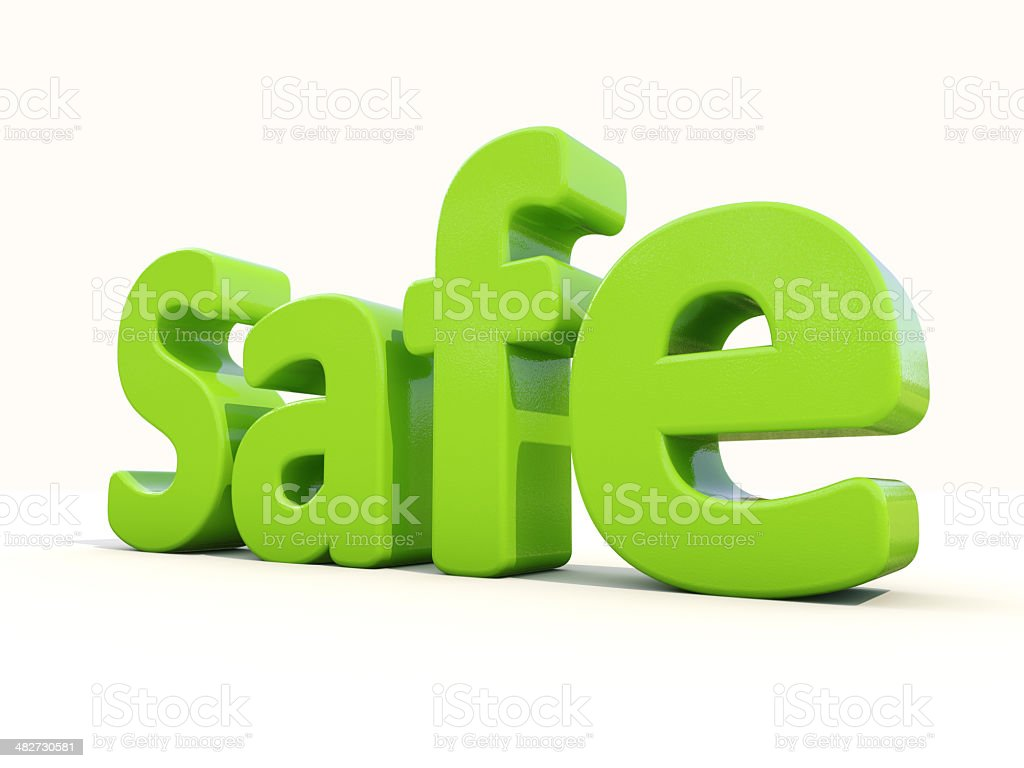 3d word safe stock photo