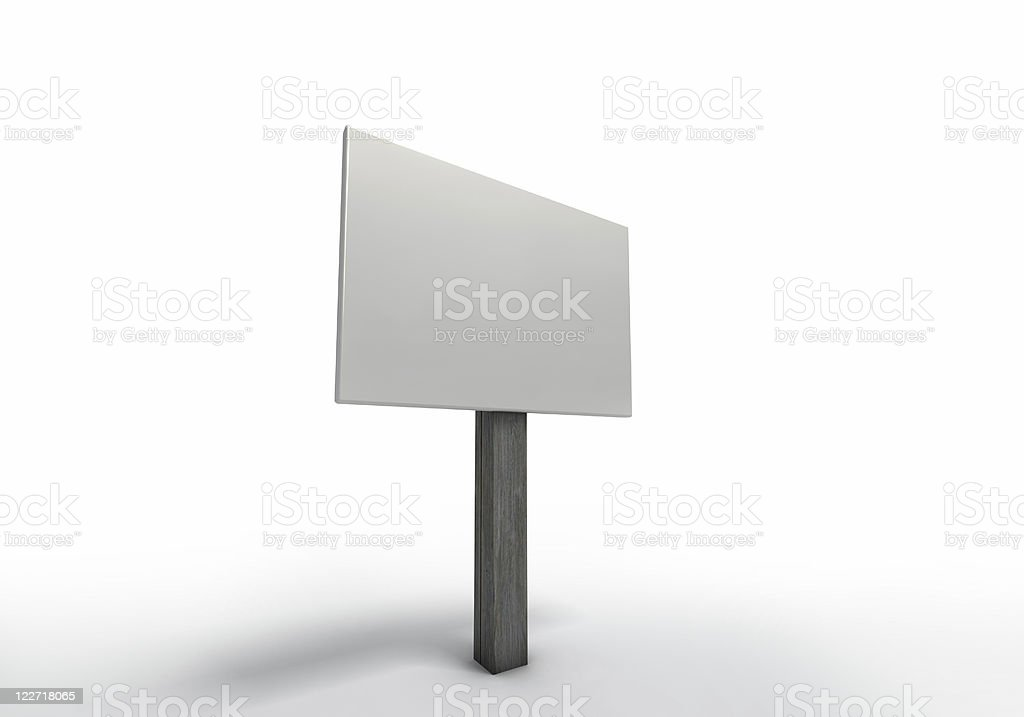 3d Yard Sign royalty-free stock photo