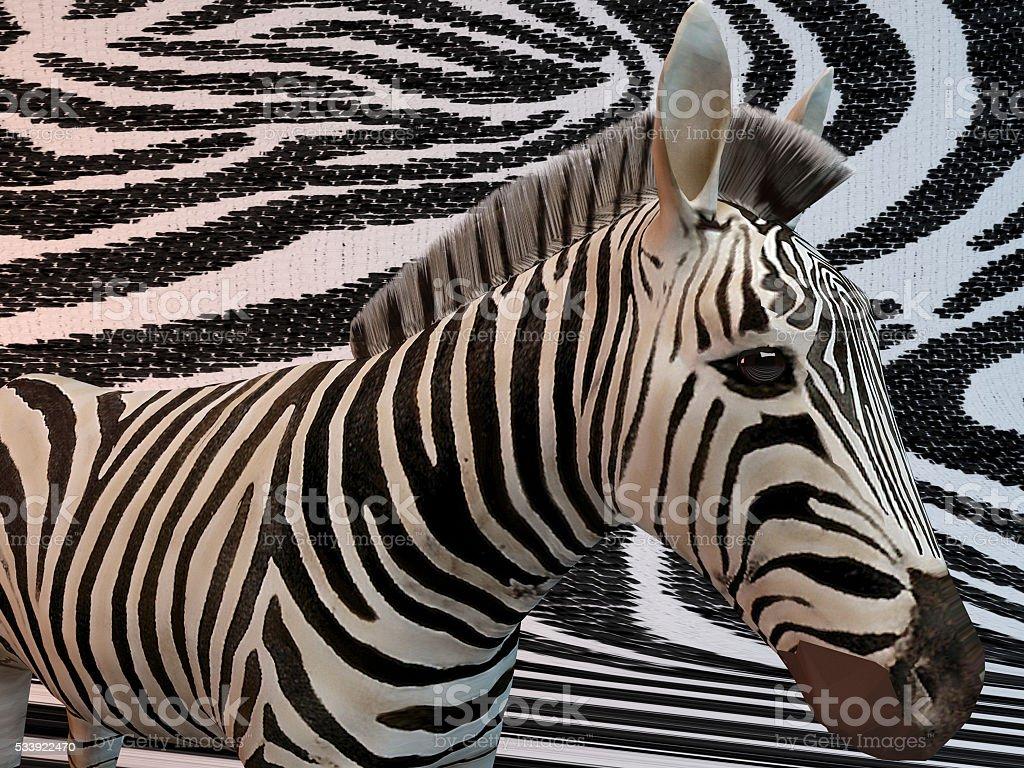 3d zebra patterns stock photo