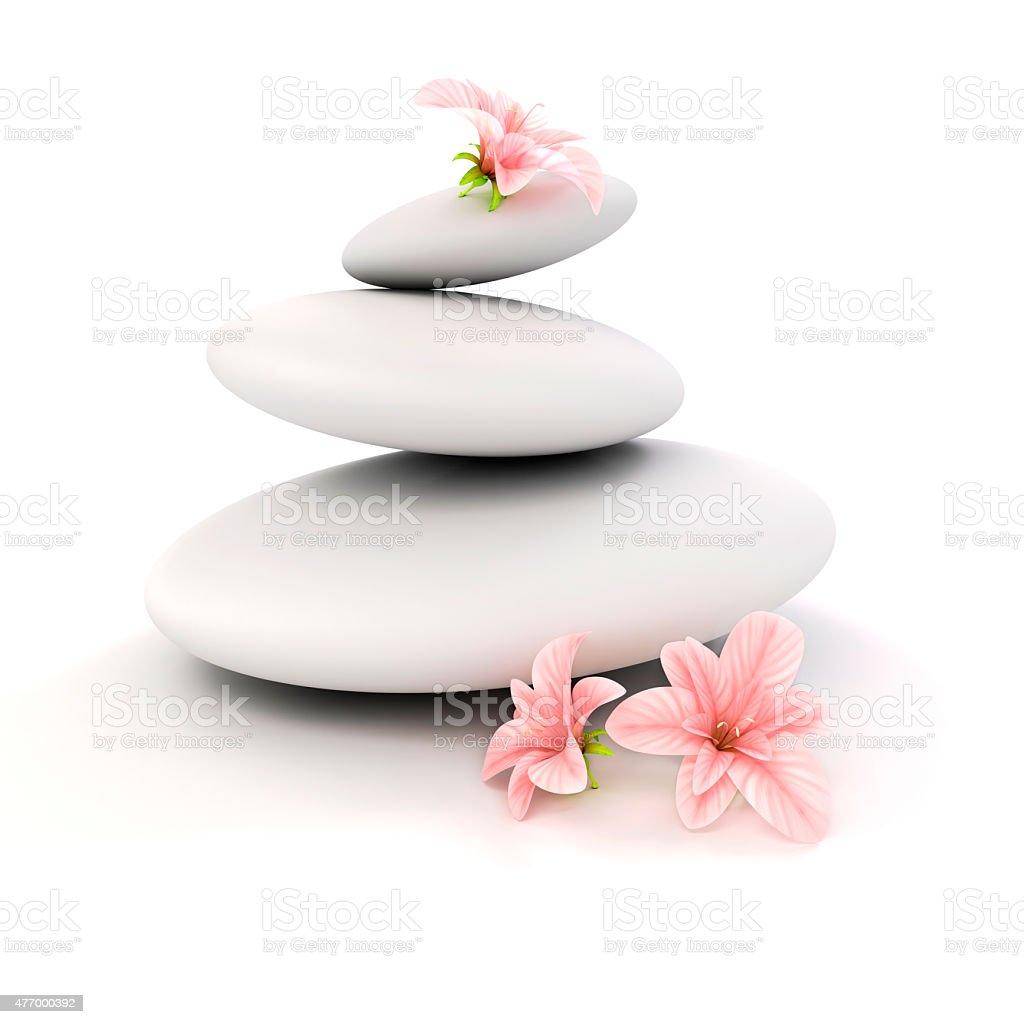 3d zen- spa stones stock photo