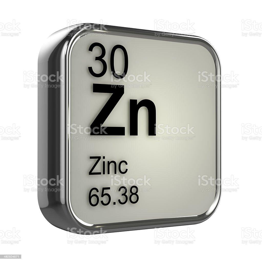 3d Zinc element stock photo