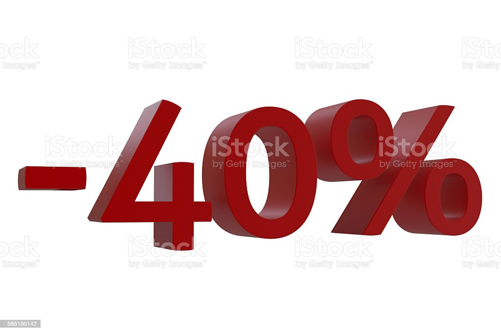 3d-model 40% discount stock photo