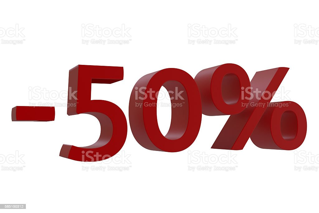 3d-model 50% discount stock photo