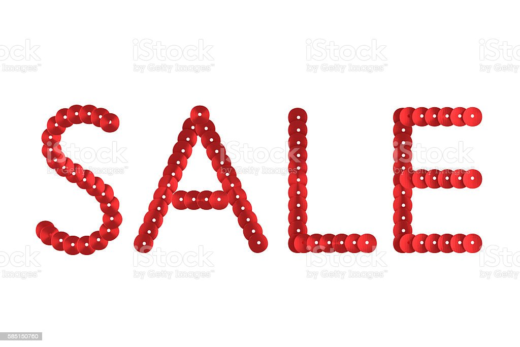 3d-model the word sale stock photo