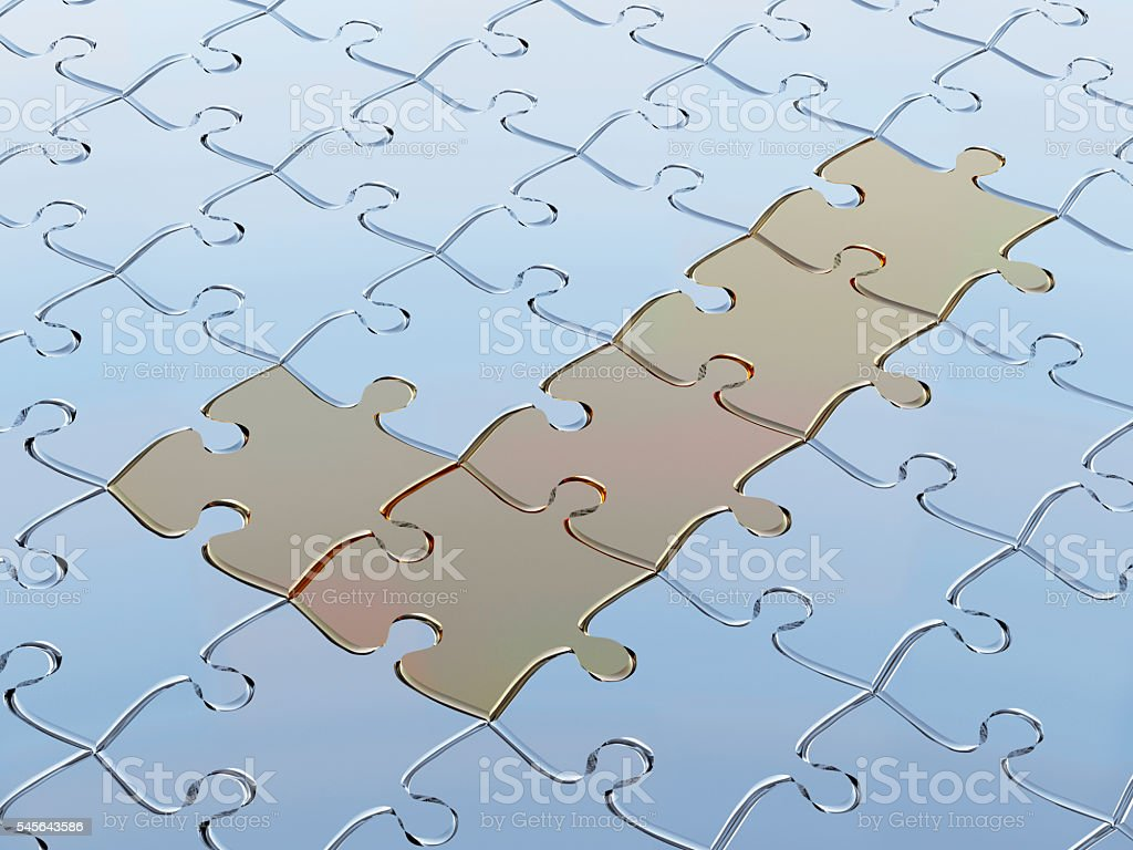3D-rendering  Puzzle. stock photo