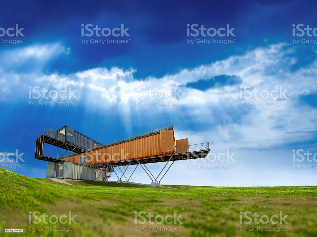 3Ds container office stock photo