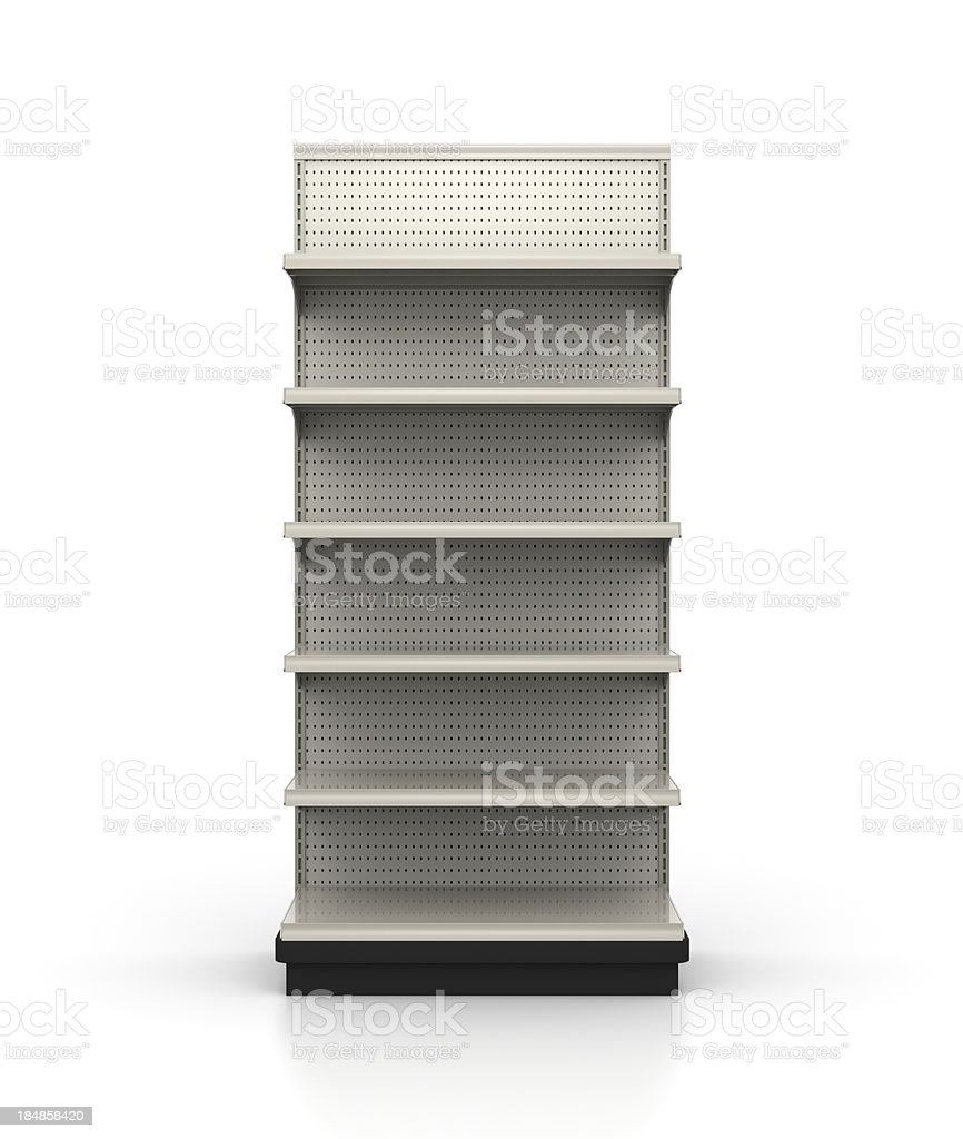 3ft Wide Endcap - Store Shelves royalty-free stock photo