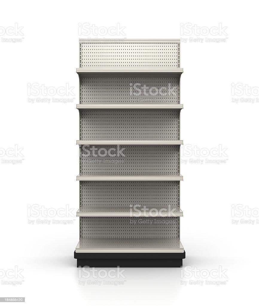 3ft Wide Endcap - Store Shelves stock photo