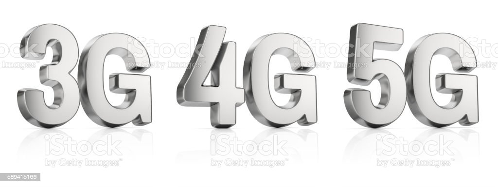 3g, 4g, 5g sign stock photo
