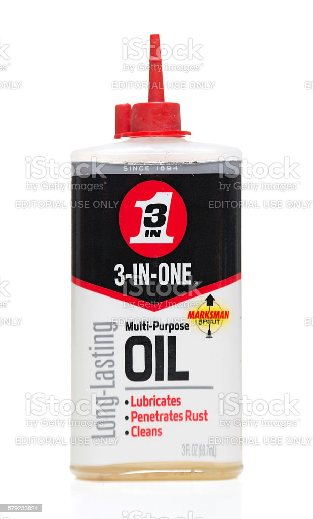 3-In-One multi-purpose oil bottle stock photo