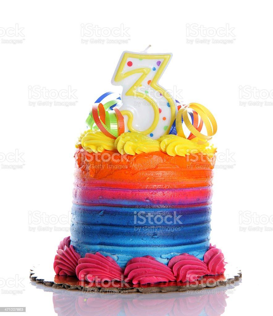 3rd Birthday Cake royalty-free stock photo