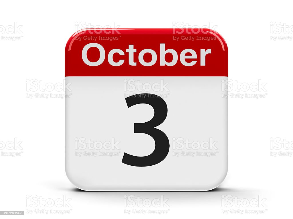 3rd October stock photo