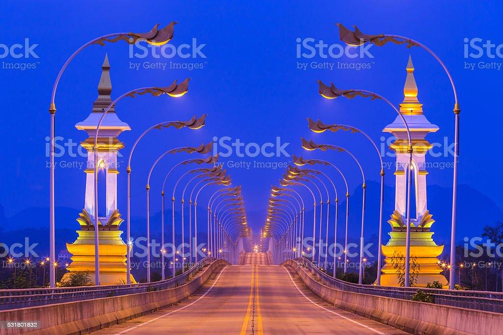 3rd Thai - Lao friendship bridge at Nakhon Phanom Thailand. stock photo