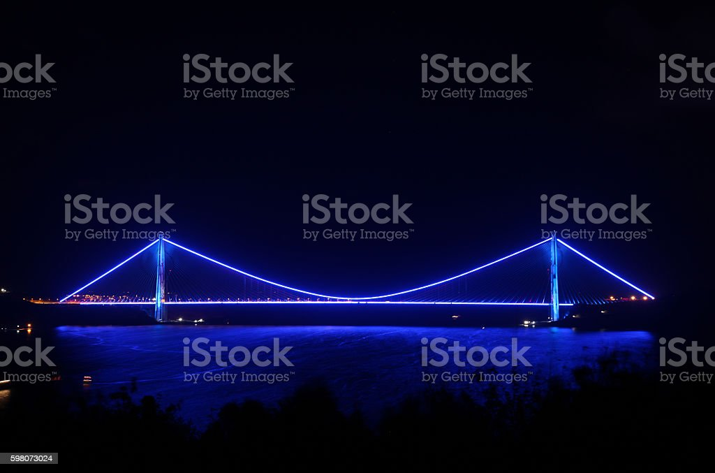 3th Bosphorus Bridge Yavuz Sultan Selim Bridge stock photo