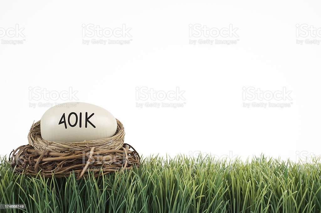 401k nest background royalty-free stock photo
