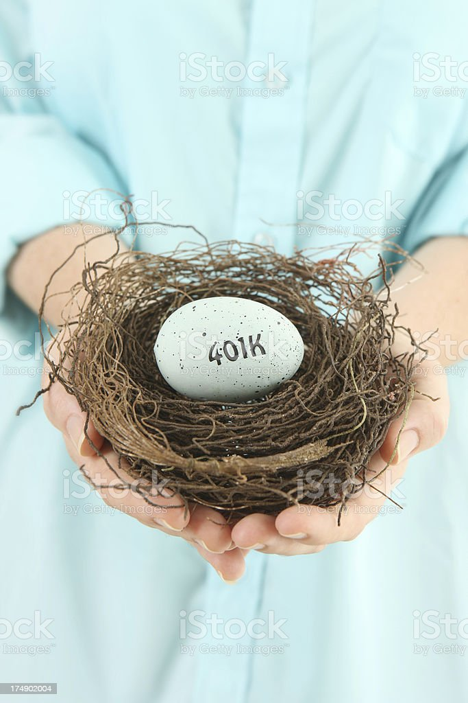 401k Nest Egg royalty-free stock photo