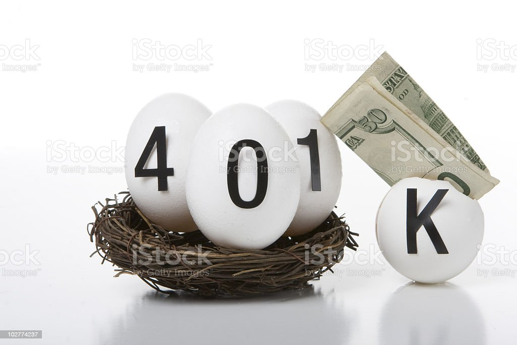 401k Nest Eggs royalty-free stock photo